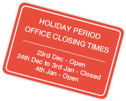 Holiday Closing times