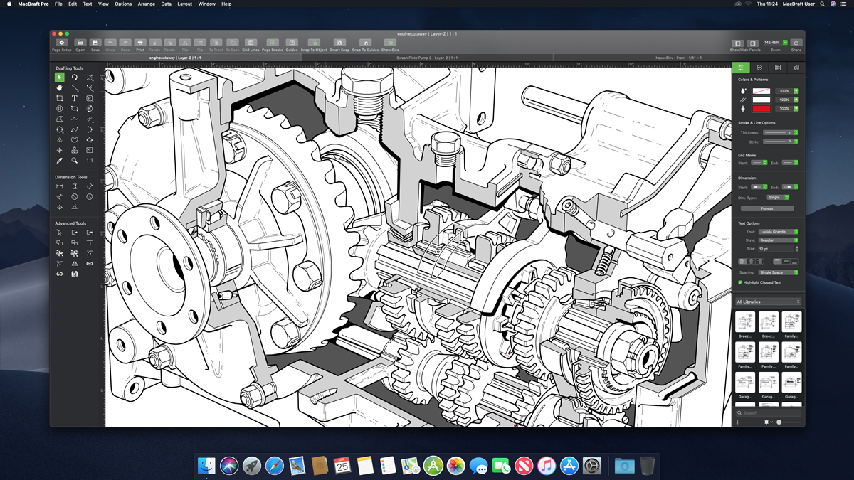 MacDraft Professional | Powerful 2D CAD, drafting, technical