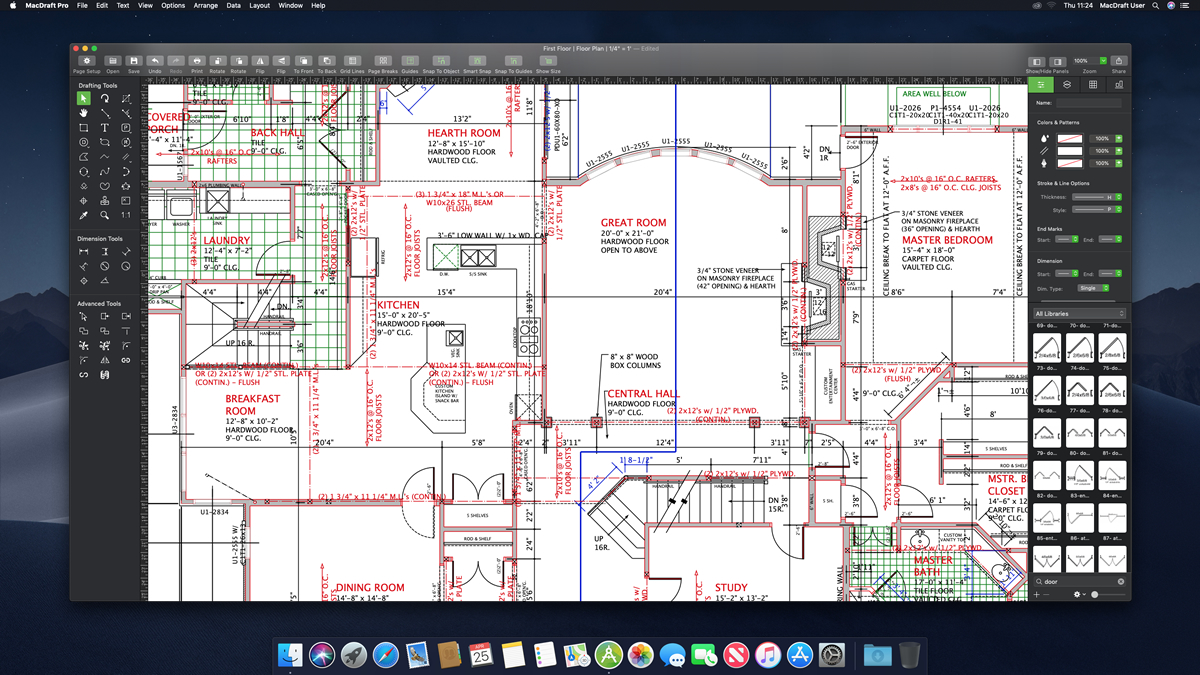 Microspot Ltd Releases MacDraft 7 64 bit, the latest CAD App for Mac Image