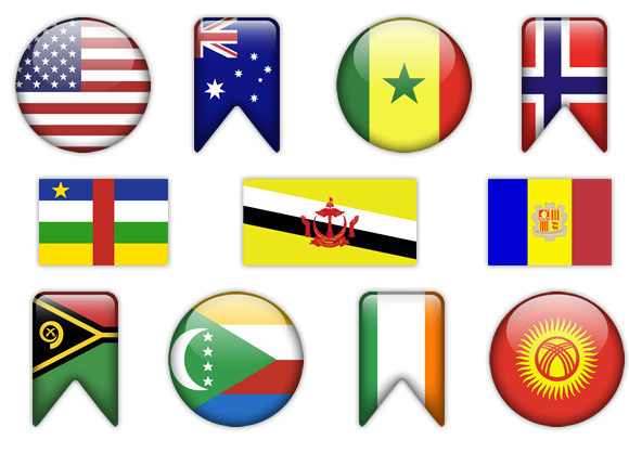 Flags of the World Clipart | Great for Posters, Invitations, cards ...