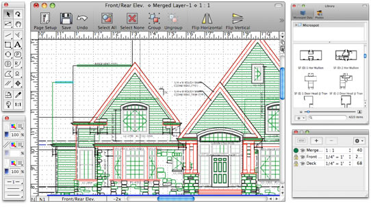 Macdraft pro features powerful 2d drafting design for Architectural drafting programs free