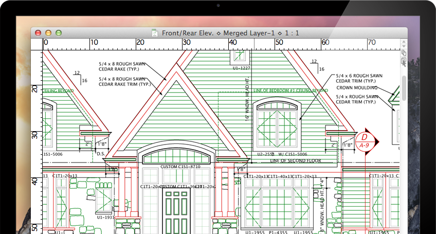 Macdraft professional 2d cad for mac microspot ltd for Simple architectural drawing software
