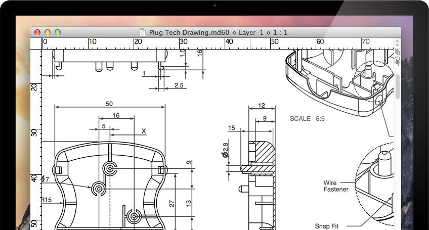 MacDraft Professional | 2D CAD for Mac | Microspot Ltd