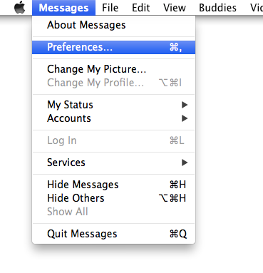 Messages Preferences