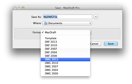 Open MacDraft Document