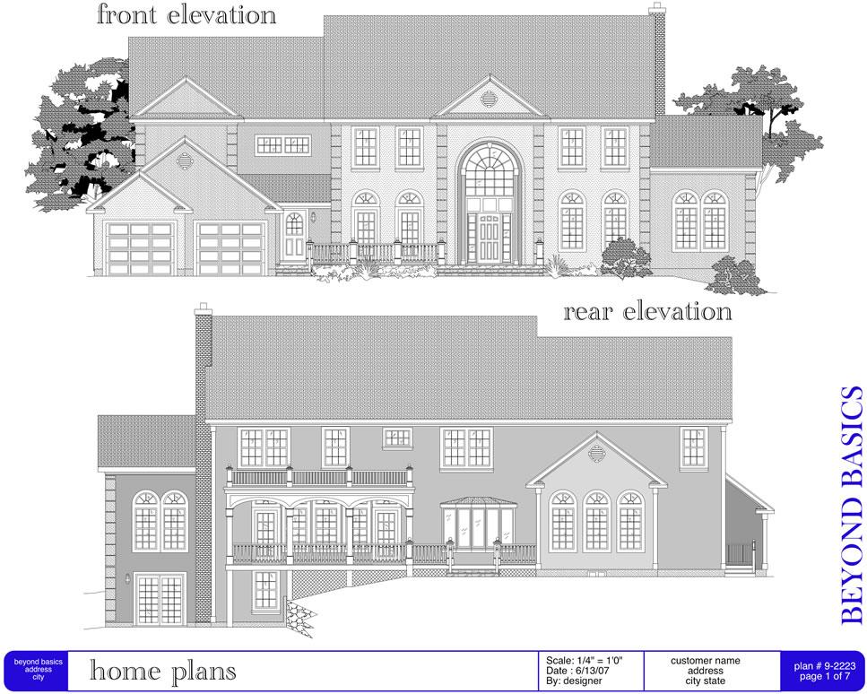 Elevation Plan Drawing Software : Builder pro home design made easy