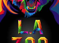 Colorful Bear Zoo Poster