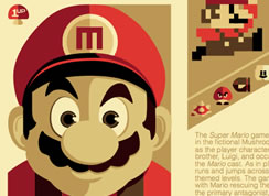 Retro Mario Themed Brochure