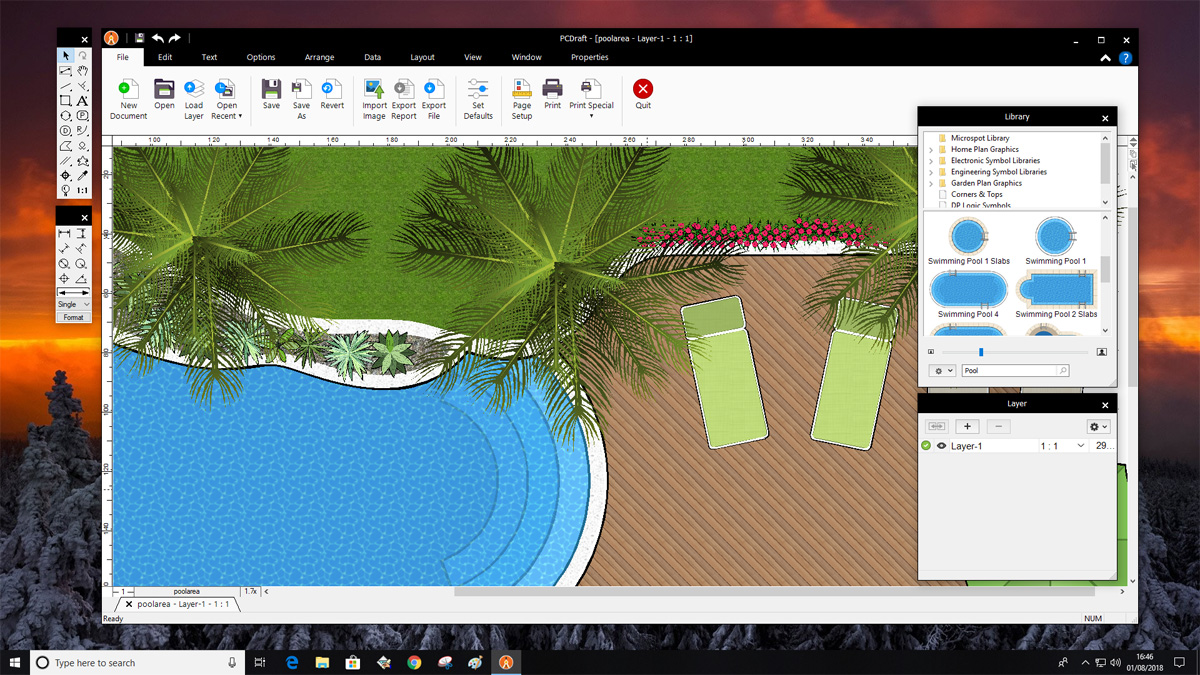 Pc Draft Professional Powerful 2d Cad Drafting Technical Illustration And More For Windows Microspot Ltd