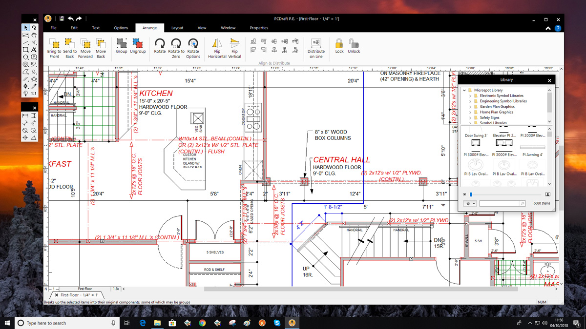 Pc Draft Personal Edition Easy To Use 2d Cad Drawing Technical Tool That S Free For Users Design And Draw Circuit Quick Vibrant Stylish Garden Landscape Designs