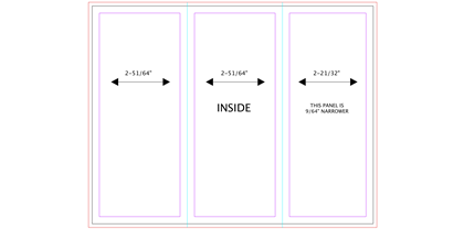 blank trifold guides brochure template back