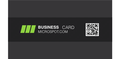 Charcoal-QR-Business-Card-Template-Front