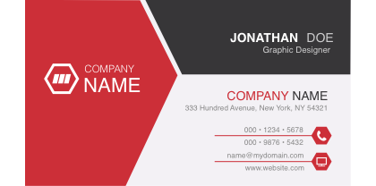 Untitled Document - Single business card template