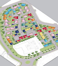 Detailed Street Plan CAD Template